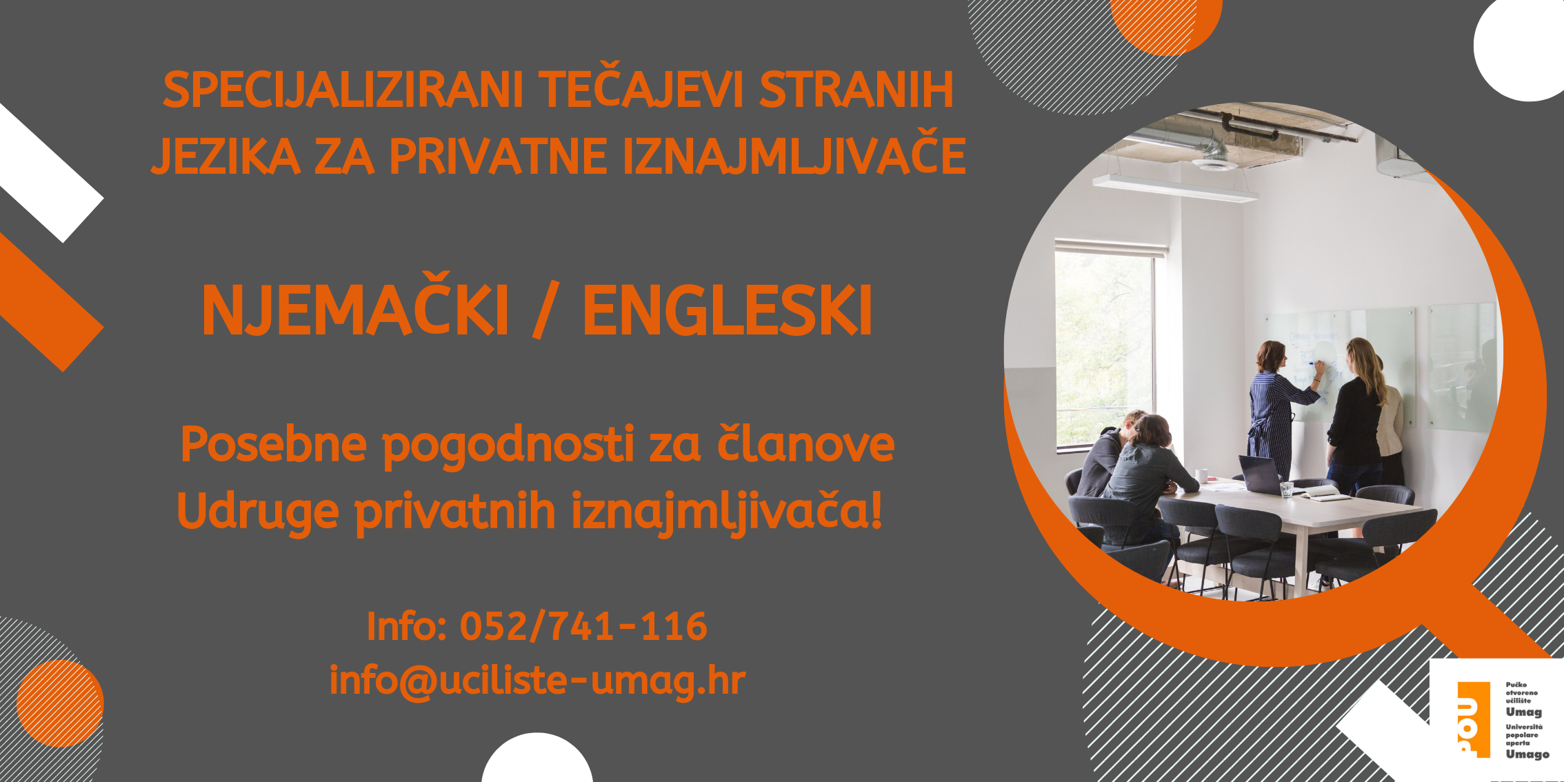 Specijalizirani tečajevi stranih jezika za privatne iznajmljivače
