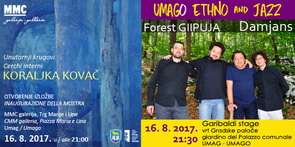 """Izložba suvremene umjetnice Koraljke Kovač i koncert """"Forest GIIPUJA"""" u Umagu!"""