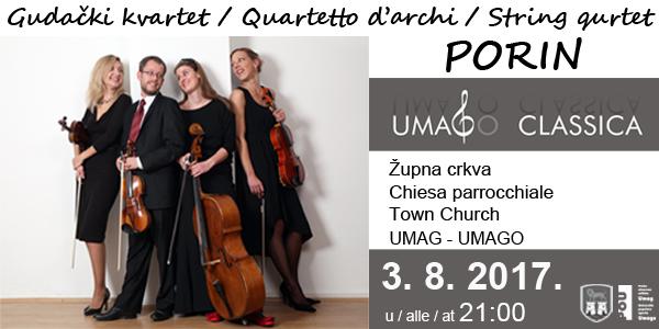 Gudački kvartet Porin 3. 8. u Umagu!