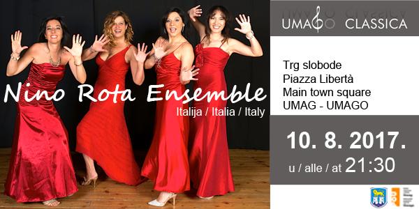 Gostovanje iznimno popularnog i cijenjenoga talijanskog kvarteta Nino Rota Ensemble!