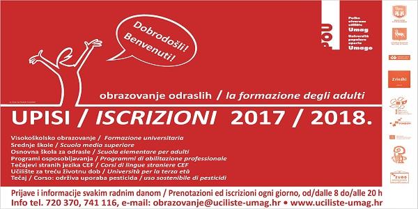 Otvorene prijave za sve obrazovne programe u šk. 2017/2018. godini