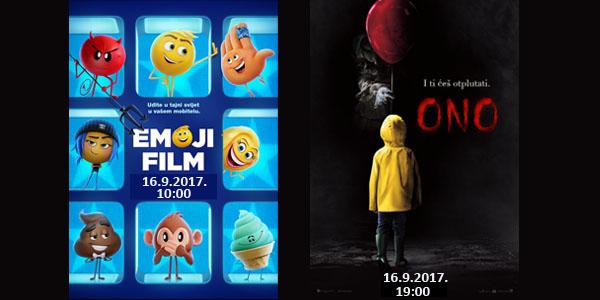 Vrata kina otvaramo matinejom Emoji filma i večernjom projekcijom hita Ono!