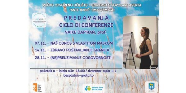 U tijeku novi ciklus predavanja prof. Naike Dapiran