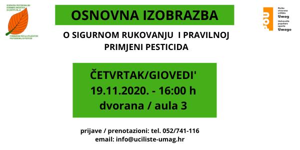 Osnovna izobrazba o sigurnom rukovanju i pravilnoj primjeni pesticida