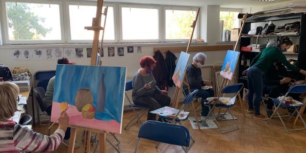 Završen tečaj crtanja i slikanja Učilišta za treću životnu dob
