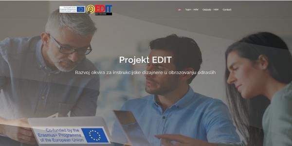 Otvorena službena web stranica projekta EDIT
