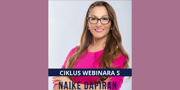 Ciklus webinara s Naike Dapiran